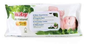 Nuby CG42080 Citroganix Disposable Wipes, Pack of 80