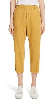 Nili Lotan Luna Cotton & Linen Twill Crop Pants