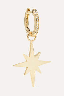 Sydney Evan Starburst 14-karat Gold Diamond Hoop Earring