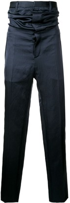 Y/Project high-waisted satin trousers
