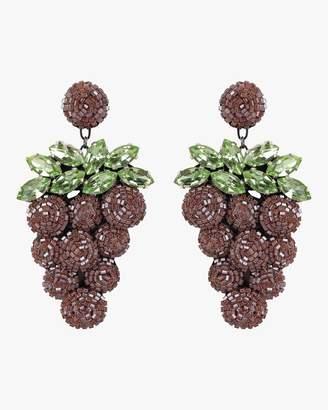 Deepa Gurnani Beaded Grape Earrings