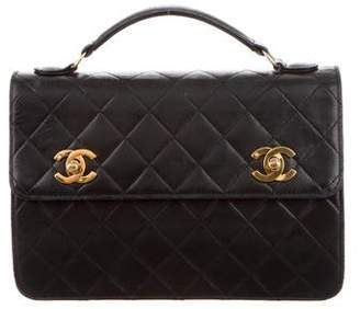 Pre Owned At Therealreal Chanel Small Briefcase Shoulder Bag