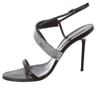 Diego Dolcini Embellished Ankle Strap Sandals