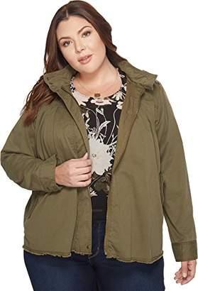 Lucky Brand Women's Raw Edge Military Plus-Size Jacket