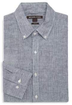 Michael Kors Slim-Fit Tate Stripe Shirt