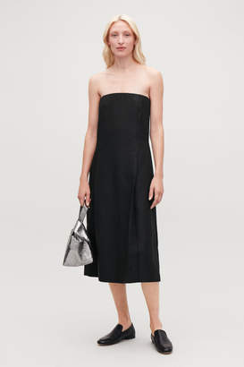 018807f23edf at COS Stores · Cos PLEATED STRAPLESS DRESS