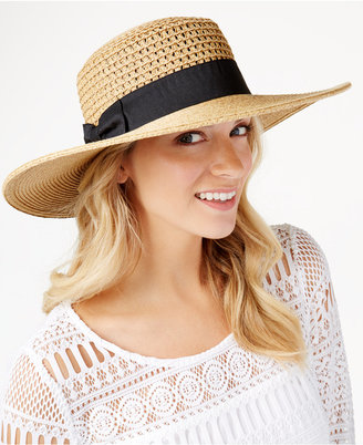 Nine West Packable Boater Hat $36 thestylecure.com