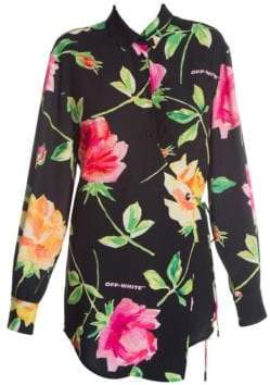 Off-White Floral Wrap Shirt