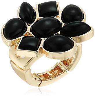 T Tahari Womens Marina Club Stretch Ring with Stones