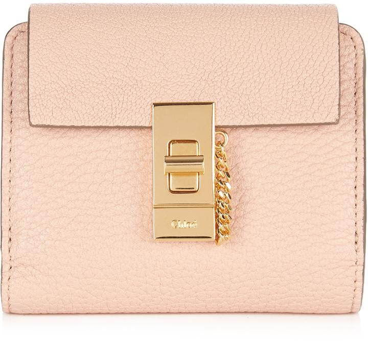 Chloé CHLOÉ Drew square leather wallet