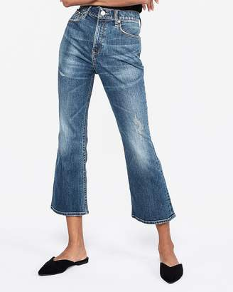 Express High Waisted Vintage Original Cropped Flare Jeans