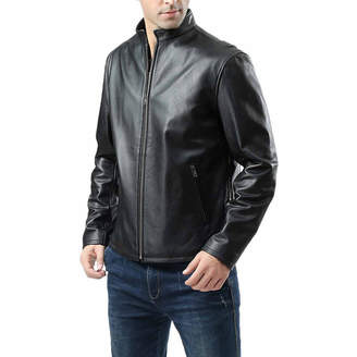 Asstd National Brand Pebbled Leather Motorcycle Jacket