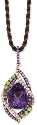 LeVian Le Vian Crazy Collection Multi-Stone Pendant Necklace (14 ct. t.w.) in 14k Rose Gold, Created for Macy's