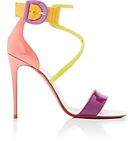 Christian Louboutin Women's Choca Patent Leather Sandals - Version Multi