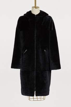 32 Paradis Sprung Frères Alpes long hooded coat