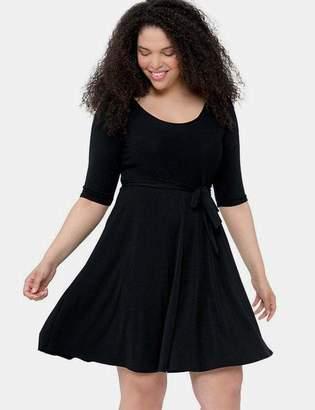 Leota Ilana Dress in Black Crepe Size 1L Polyester