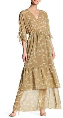 BCBGeneration Kimono Sleeve Ruffle Maxi Dress