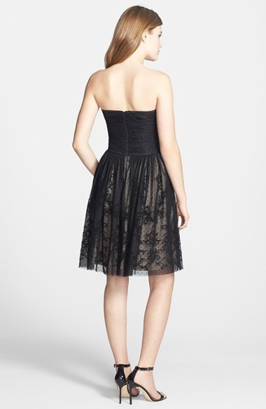 Betsey Johnson Ruched Bodice Strapless Dress