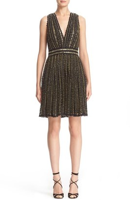 Women's Badgley Mischka Couture Beaded Sleeveless Crochet Lace Dress $2,995 thestylecure.com