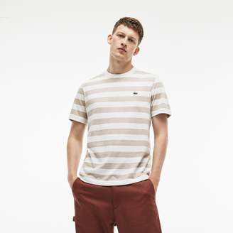 Lacoste Men's Crew Neck Striped Cotton T-Shirt
