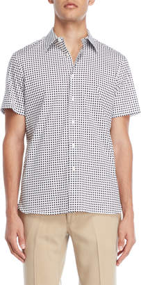 Perry Ellis Short Sleeve Geo Print Top