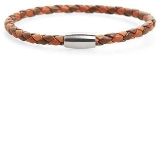 LINK-UP Woven Leather Bracelet