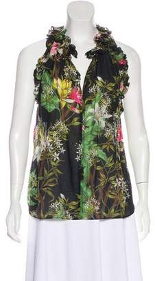 Etoile Isabel Marant Floral Print Sleeveless Blouse