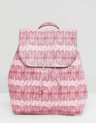Pieces Coloured Snake Print Backpack