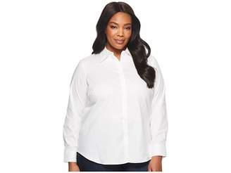 Lauren Ralph Lauren Plus Size Cotton Poplin Shirt