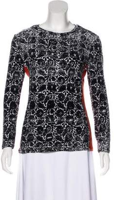 Narciso Rodriguez Printed Long Sleeve Top