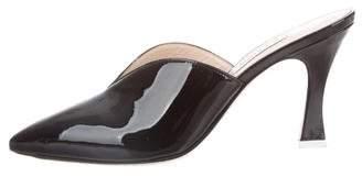 ATTICO Patent Pointed-Toe Mules