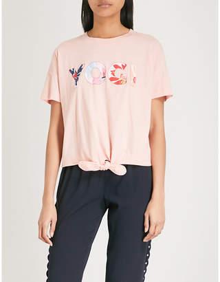 Claudie Pierlot Maillie knot cotton T-shirt