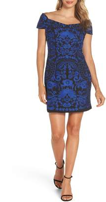 Foxiedox Betina Embroidered Body-Con Dress