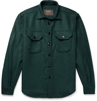 Piombo MP Massimo Wool-Blend Jacquard Overshirt