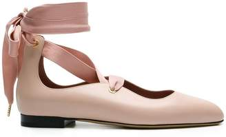 Bally Lavin lace-up ballerina shoes