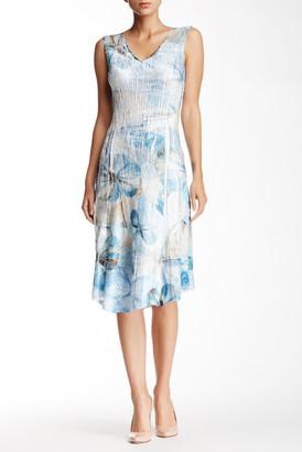 KOMAROV Chiffon Insert Dress $278 thestylecure.com