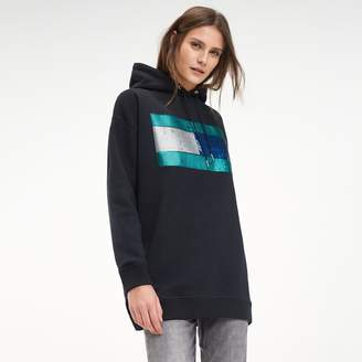 Tommy Hilfiger Sequin Flag Hoodie Dress