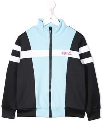 Fendi colour block sweatshirt