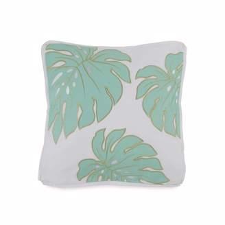 Southern Tide Tropical Retreat Monstera Leaf Decorative Pillow