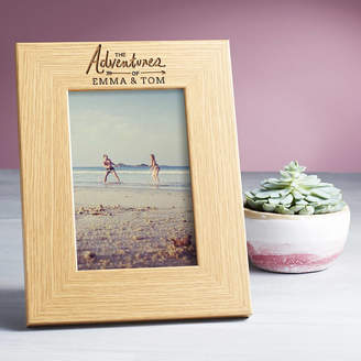 Dust and Things Personalised Photo Frame 'Adventures Of..'