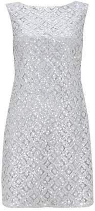Wallis Silver Sequin Lace Shift Dress