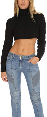 Pierre Balmain Chunky Knit Cropped Sweater