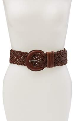 Fashion Focus ACCESSORIES Braided Leather Stretch Back Belt