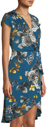 Rachel Roy Pierce Floral-Print Wrapped Dress