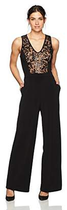 6407ec7bb7b4 at Amazon.com · Karen Kane Women s Sequin Inset Jumpsuit