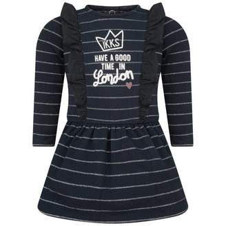 Ikks IKKSBaby Girls Navy Striped Dress