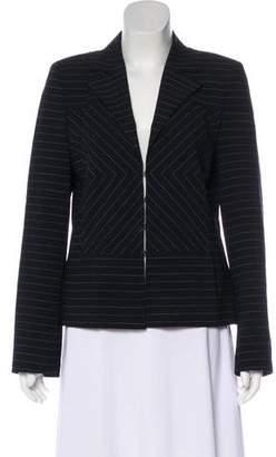 Akris Pinstripe Wool Blazer