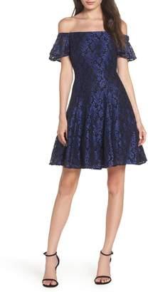 Morgan & Co. Off the Shoulder Lace Dress