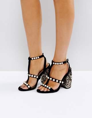 Asos HALL OF FAME Embellished Heeled Sandals