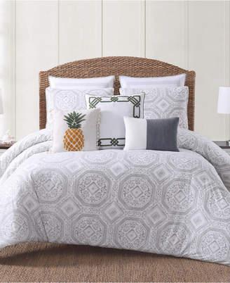 Pem America Oceanfront Resort Sunwashed Isle Printed 3 Piece King Duvet Cover Set Bedding